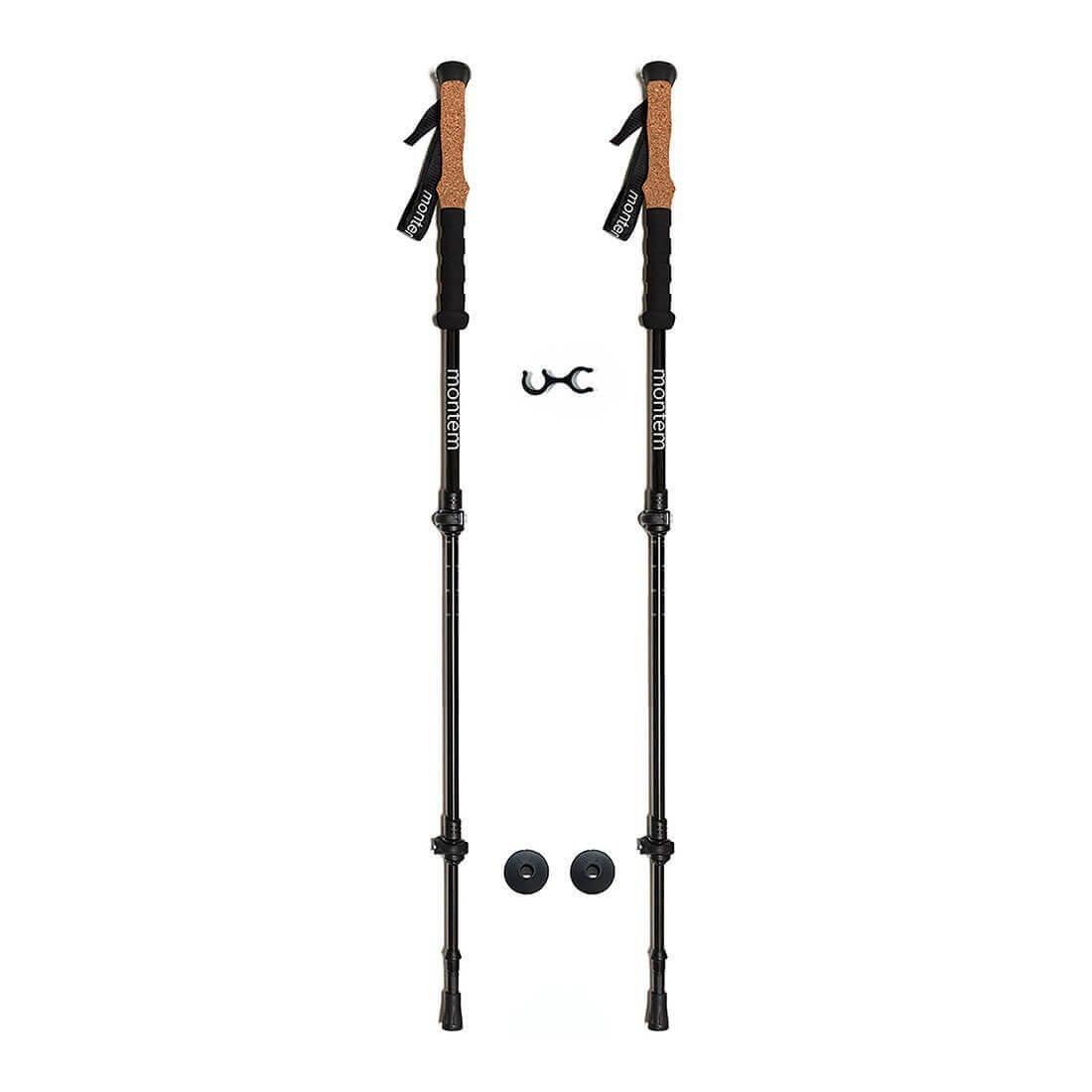 Ultra Strong Cork Anti-Shock Trekking Poles - Pair