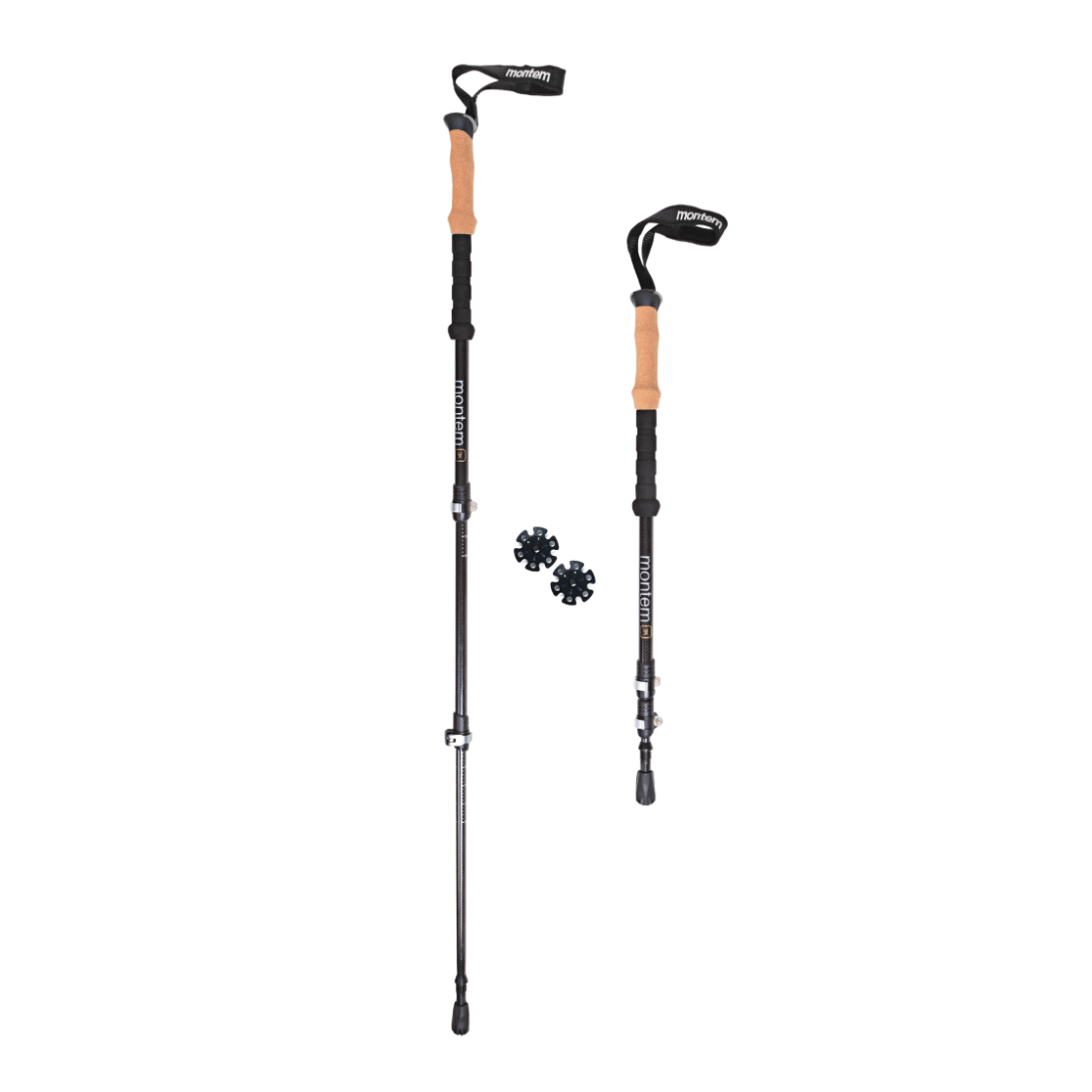 Ultra Light 3k Carbon Fiber Trekking Poles Pair Montem
